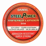 Damyl Steelpower tapered leader 0,30 mm tot 0,57 mm